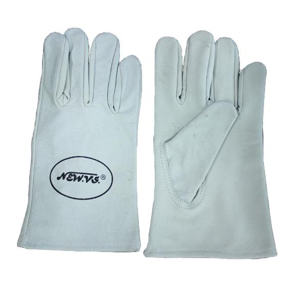 ถุงมือหนังผิวฟอก 8 นิ้ว (เชื่อมอาร์กอน)