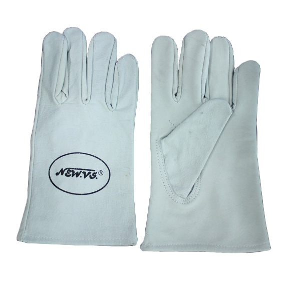 SHORT LEATHER GLOVES 8 INCHES